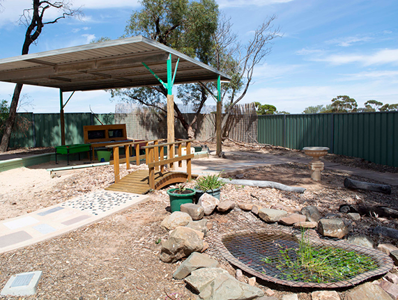 Port-Augusta-West-Childhood-Services-Centre-Outdoor-Undercover-Play-Area-Sensory-Path-Pond