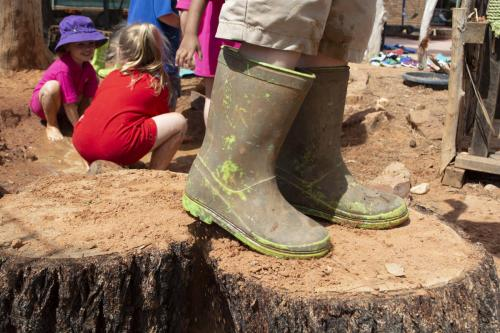 Port-Augusta-West-Childhood-Services-Centre-Mud-Play-Outdoor-Nature-Rubber-Boots